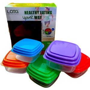 L.O.T.G.Portion Control Meal Management 13 Pc.Kit